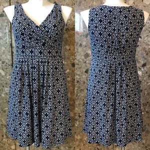LP Blue Sleeveless Fit and Flare Dress